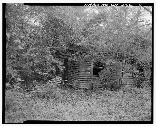 5.  Southwest view - Rambo-Ivey Tenant House, East of U.S. 27/State Route 1, North of County Road 132, Bluffton, Clay County, GA