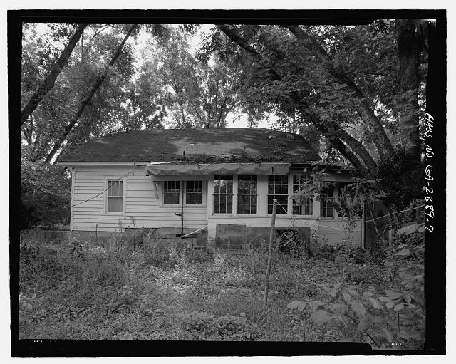 Rear elevation, north facing - J.W. Mann House, 1918 Dresden Drive, Chamblee, Decatur County, GA