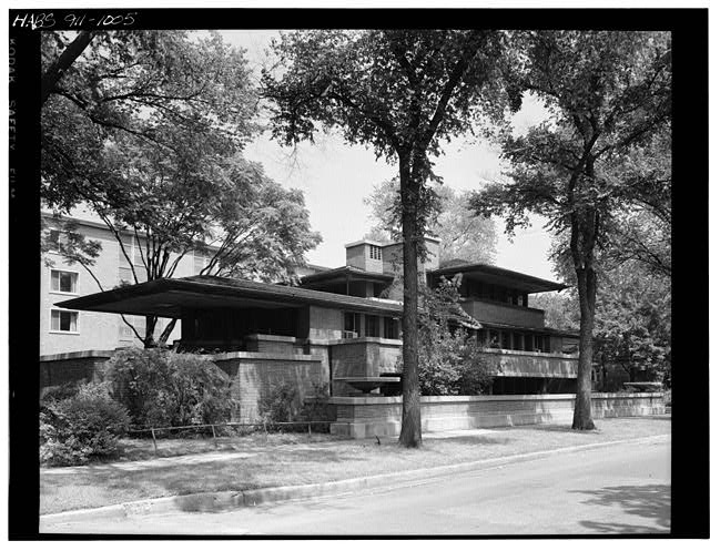2.  Historic American Buildings Survey Ph: Cervin Robinson August 18, 1963 SOUTH FACADE FROM SOUTHWEST - Frederick C. Robie House, 5757 Woodlawn Avenue, Chicago, Cook County, IL