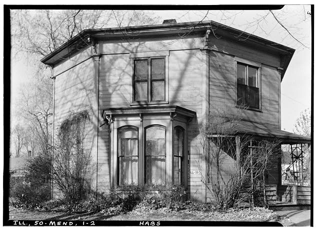 2.  Historic American Buildings Survey Richard Grant, Photographer November 1936 SOUTH ELEVATION - Octagon House, Mendota, La Salle County, IL