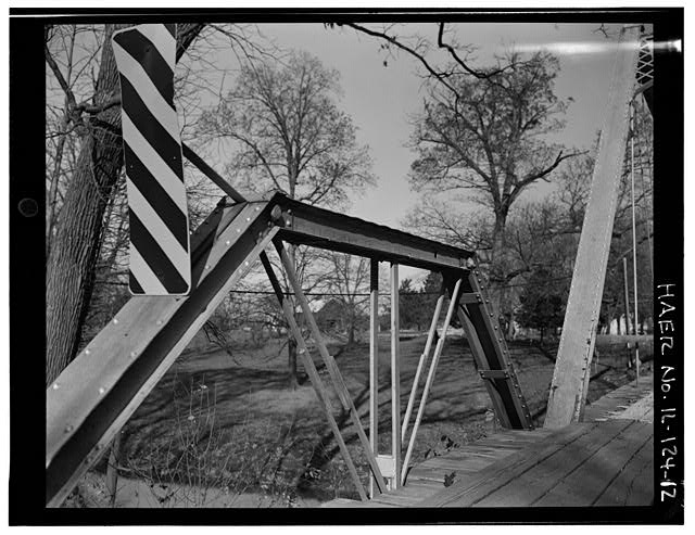 12.  APPROACH SPAN TRUSS, VIEW TO NORTHEAST - Butzow Bridge, Crescent City, Iroquois County, IL