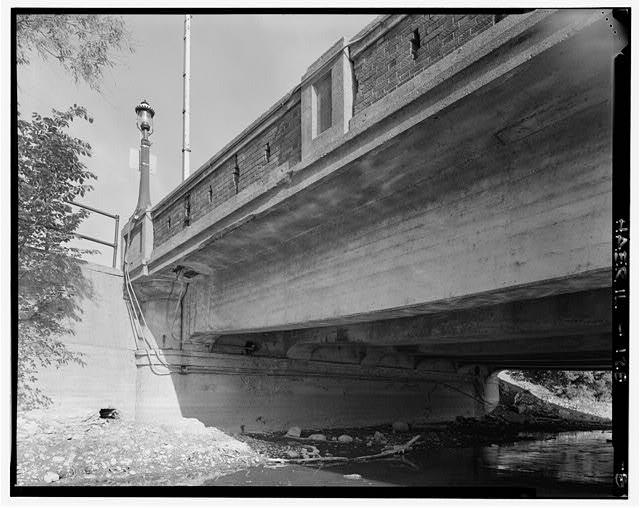 8.  UNDERSIDE AT EAST END SUPPORT - Main Street Bridge, Spanning Fox River at State Route 72, West Dundee, Kane County, IL