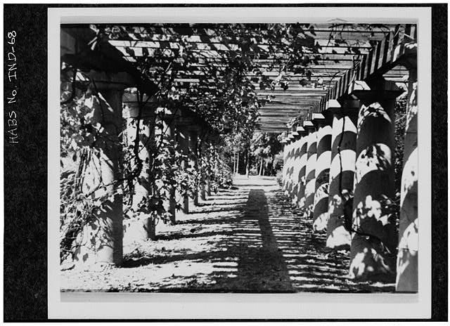 2.  Historic American Buildings Survey PHOTOCOPY CA. 1916 OF GRAPE ARBOR Original in Collections of Marian College - James A. Allison Mansion, 3200 Coldspring Road, Indianapolis, Marion County, IN