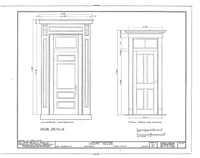 HABS IND,49-IND,12- (sheet 7 of 8) - Despa House, 538  Lockerbie Street, Indianapolis, Marion County, IN