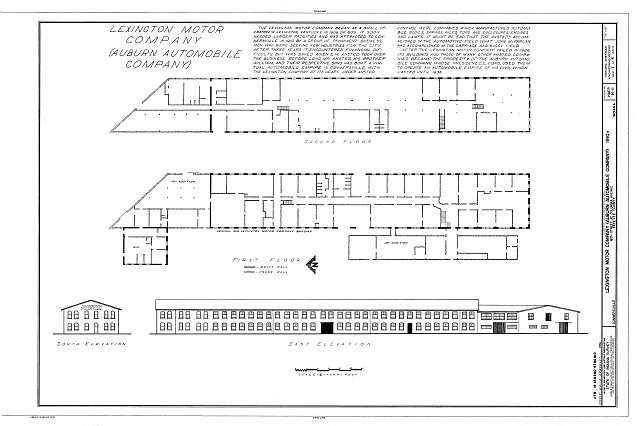 HAER IND,21-CONVI,7- (sheet 1 of 4) - Lexington Motor Company, Eighteenth Street & Columbia Avenue, Connersville, Fayette County, IN