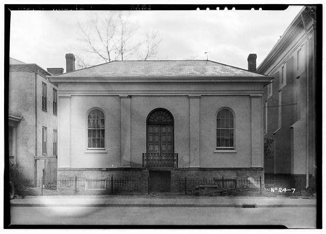 1.  HISTORIC AMERICAN BUILDINGS SURVEY THE SHORES STUDIO, PHOTOGRAPHERS, April, 1934 LIBRARY, NORTHWEST ELEVATION - St. Francis Xavier Cathedral, Library, Vigo Street, Vincennes, Knox County, IN