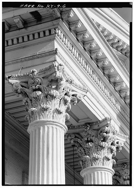 6.  Detail of column capital and architrave moldings of Pumping Station No. 1. - Louisville Water Company Pumping Stations, Zorn Avenue & River Road, Louisville, Jefferson County, KY