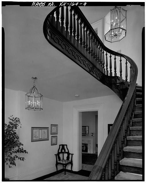 9.  FIRST FLOOR, ENTRY HALL, STAIRWAY TO SECOND FLOOR - Daniel Carter Beard House, 322  East Third Street, Covington, Kenton County, KY
