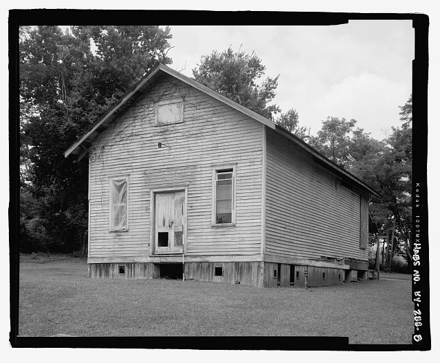 RIGHT ELEVATION SCALED  - Cadentown Rosenwald School, Caden Lane, Lexington, Fayette County, KY