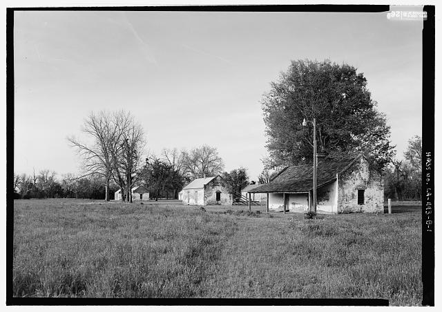 1.  General view looking from the south - Magnolia Plantation, Slave Quarters, LA Route 119, Natchitoches, Natchitoches Parish, LA