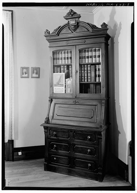 9.  SECRETARY DESK - Captain Edward Penniman House, Fort Hill Road, Eastham, Barnstable County, MA