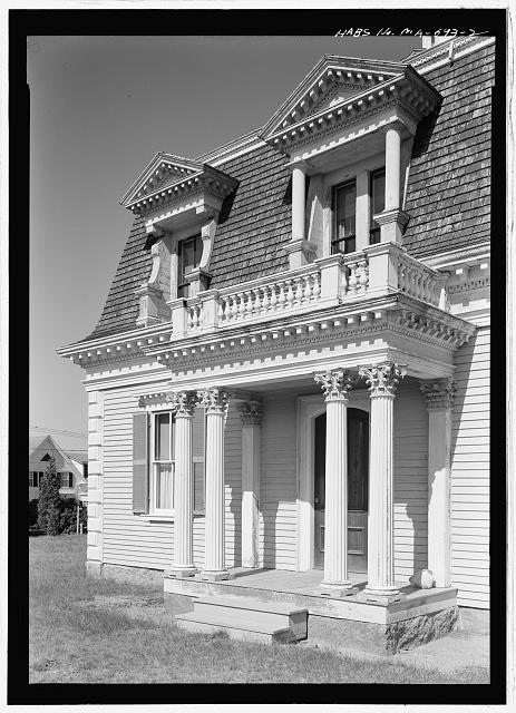 2.  FRONT PORTICO  - Captain Edward Penniman House, Fort Hill Road, Eastham, Barnstable County, MA