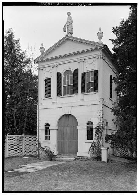4.  EAST REAR, FROM THE NORTHEAST - Derby Summer House, Glen Magna Estate (moved from Elias Derby Farm, Peabody, MA), Danvers, Essex County, MA