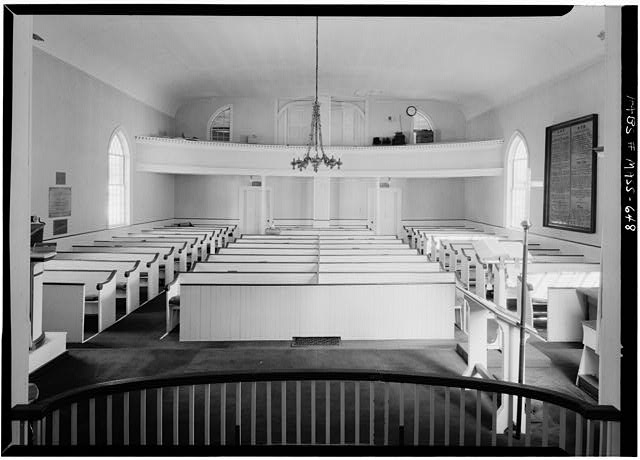5.  Historic American Buildings Survey Cervin Robinson, Photographer September 1959 INTERIOR FROM WEST - St. John's Episcopal Church, Main Street & Baptist Corner Road, Ashfield, Franklin County, MA