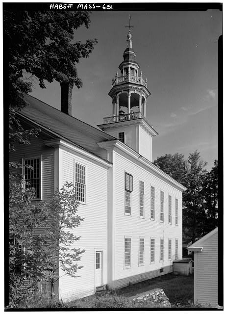 4.  Historic American Buildings Survey Cervin Robinson, Photographer September 1959 EXTERIOR FROM SOUTHEAST - Town Hall, Main Street, Ashfield, Franklin County, MA
