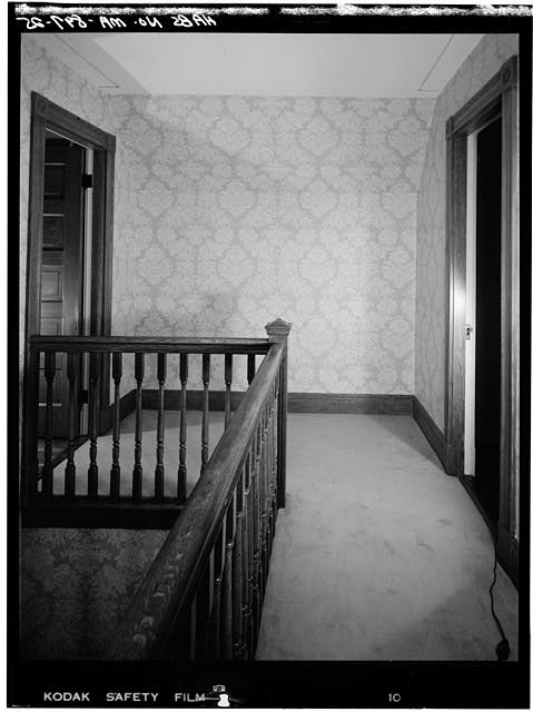 25.  THIRD FLOOR, STAIR LANDING AND HALL - John Fitzgerald Kennedy Birthplace, 83 Beals Street, Brookline, Norfolk County, MA