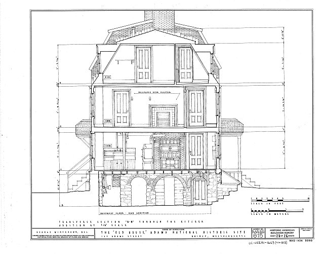 HABS MASS,11-QUI,5- (sheet 20 of 26) - Adams Mansion, 135 Adams Street, Quincy, Norfolk County, MA