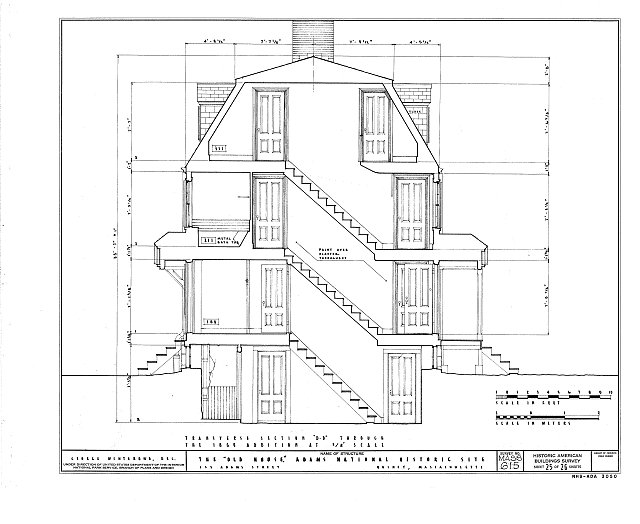 HABS MASS,11-QUI,5- (sheet 25 of 26) - Adams Mansion, 135 Adams Street, Quincy, Norfolk County, MA