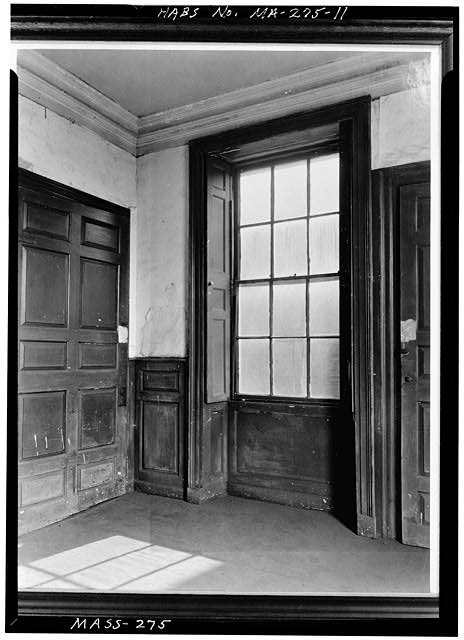 11.  WINDOW, GOVERNOR'S STUDY, FIRST FLOOR - Shirley-Eustis House, 33 Shirley Street, Boston, Suffolk County, MA