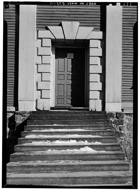 14.  MAIN (SOUTH) ENTRANCE DOOR - Shirley-Eustis House, 33 Shirley Street, Boston, Suffolk County, MA