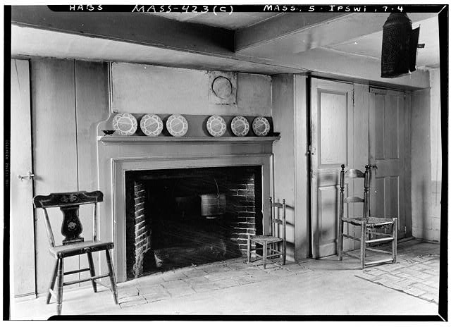 4.  Historic American Buildings Survey Arthur C. Haskell, Photographer (c) INT.- FIREPLACE - Howard-Emerson House, Turkey Shore Road, Ipswich, Essex County, MA