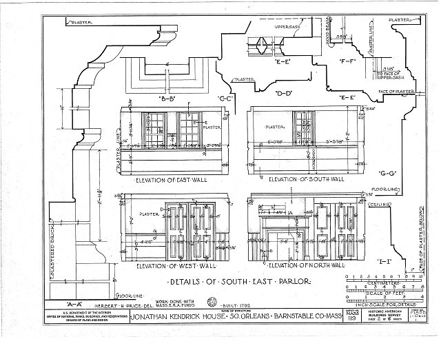 HABS MASS,1-ORLS,1- (sheet 2 of 6) - Jonathan Kendrick House, State Highway, South Orleans, Barnstable County, MA