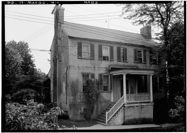 1.  Historic American Buildings Survey John O. Brostrup, Photographer May 13, 1936 9:50 A.M. VIEW FROM NORTHWEST (Front) - Sarah Buck House, Main Street Vicinity, Upper Marlboro, Prince George's County, MD