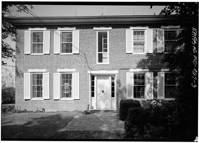 3.  EAST (FRONT) FACADE, WITH SCALE - Mount Ephraim, 23720 Mount Ephraim Road, Dickerson, Montgomery County, MD