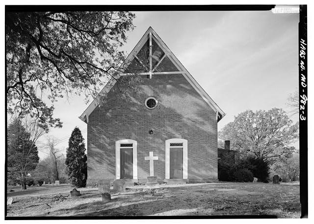 3.  EAST (FRONT) ELEVATION - Addison Chapel, 5610 Addison Road, Seat Pleasant, Prince George's County, MD