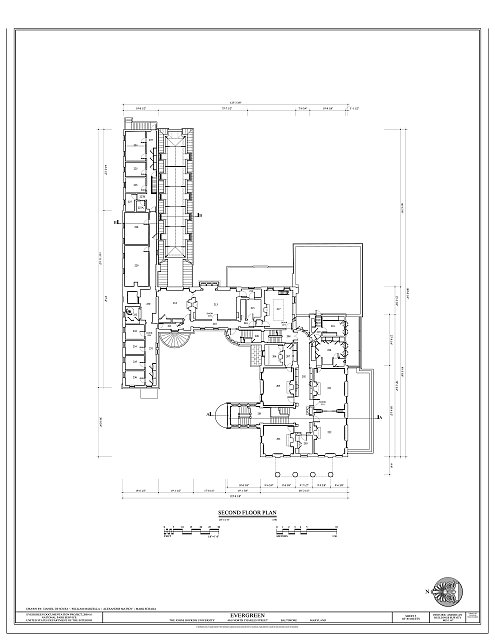 Second Floor Plan - Evergreen, 4545 North Charles Street, Baltimore, Independent City, MD