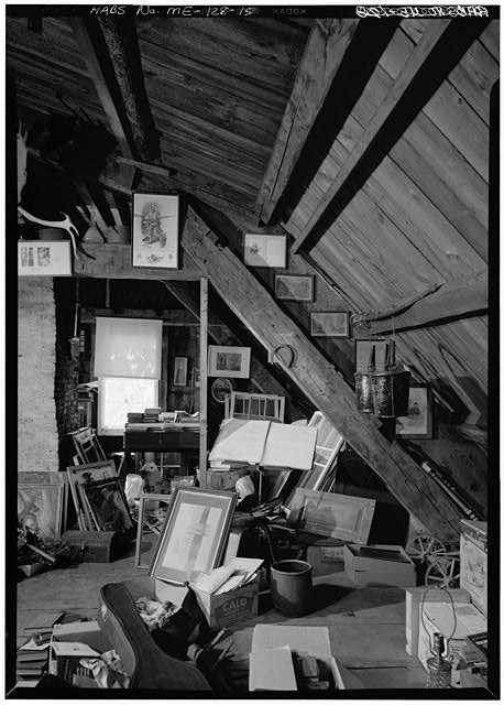 15.  INTERIOR, DETAIL, ATTIC, ROOF FRAMING - William Pepperrell House, State Route 103, Kittery Point, York County, ME
