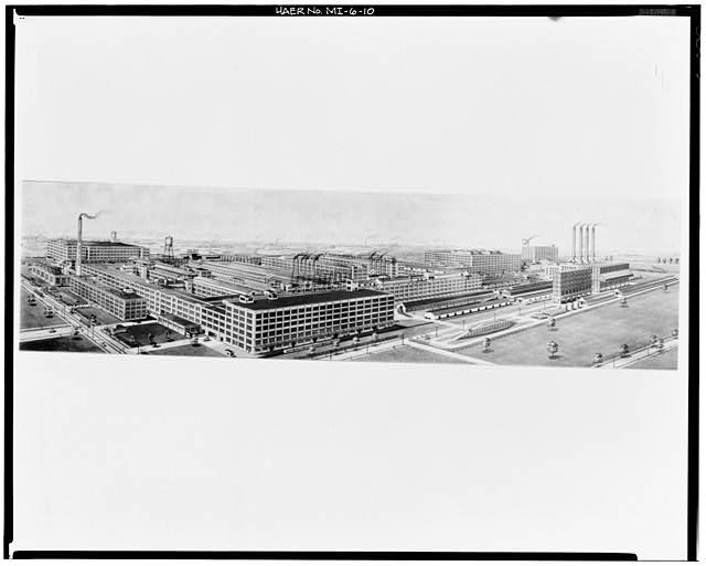 10.  Photocopy of photograph, 1923 (Chrysler) BIRDS EYE VIEW NORTHEAST - Dodge Brothers Motor Car Company Plant, Between Joseph Campau & Conant Avenues, Hamtramck, Wayne County, MI