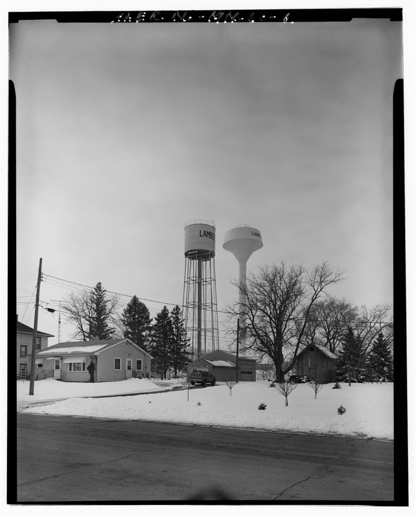 Lamberton Water Tower,Birch Street,Lamberton,Redwood County,MN,Minnesota