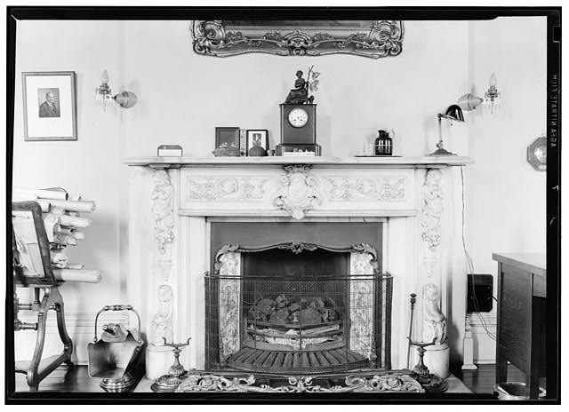 7.  MANTEL IN NORTHEAST ROOM, SECOND FLOOR - Missouri Botanical Garden, Henry Shaw Townhouse, 2345 Tower Grove Avenue, Saint Louis, Independent City, MO