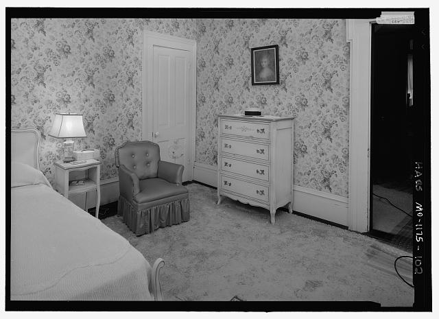 Northwest Bedroom (207), second floor, southeast corner from northwest corner - Harry S. Truman House, 219 North Delaware Street, Independence, Jackson County, MO