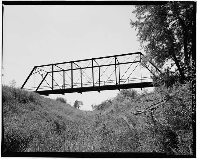2.  VIEW OF BRIDGE, LOOKING SOUTH, DOWNSTREAM - East Fork Little Tarkio Bridge, Spanning East Fork of Little Tarkio River, Fairfax, Atchison County, MO