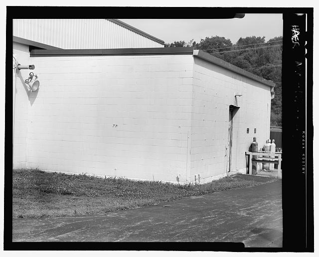 Looking West at Front (North) and East Side of West Vault - Hematite Fuel Fabrication Facility, West Vault, 3300 State Road P, Festus, Jefferson County, MO