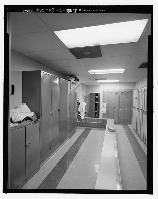 Looking Northeast in Women's Locker Room, Erbia Building - Hematite Fuel Fabrication Facility, Erbia Plant, 3300 State Road P, Festus, Jefferson County, MO