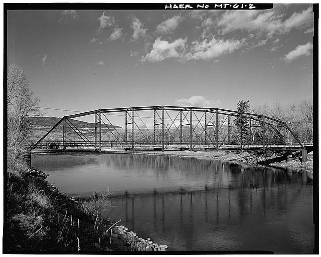 2.  NEAR-PROFILE, FACING NORTH - Pine Creek Bridge, Spanning Yellowstone River 10 miles South of Livingston, Livingston, Park County, MT