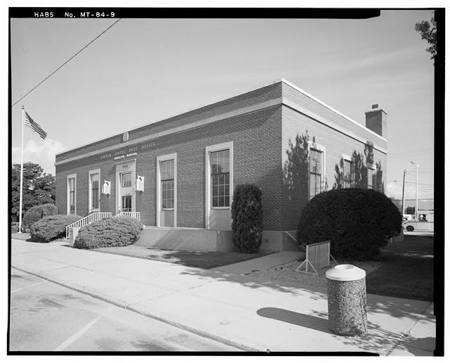 9.  Looking northwest at the post office. - Hamilton Main Post Office, 340 Main Street, Hamilton, Ravalli County, MT