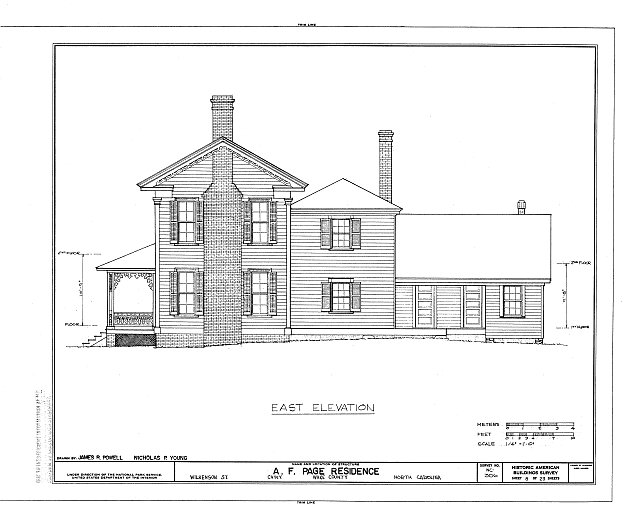 HABS NC,92-CARY,1- (sheet 8 of 23) - A. T. Page House, Wilkenson Street, Cary, Wake County, NC