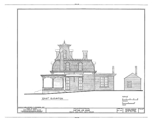 HABS NC,92-RAL,9- (sheet 6 of 20) - Captain Lee House, 503 East Jones Street, Raleigh, Wake County, NC