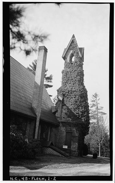 2.  Historic American Buildings Survey, Stewart Rogers, Photographer February 20, 1934 NORTH ELEVATION (TOWER). - Calvary Episcopal Church, U.S. Route 25, Fletcher, Henderson County, NC