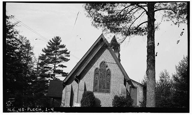 4.  Historic American Buildings Survey, Stewart Rogers, Photographer February 20, 1934 EAST ELEVATION (REAR). - Calvary Episcopal Church, U.S. Route 25, Fletcher, Henderson County, NC