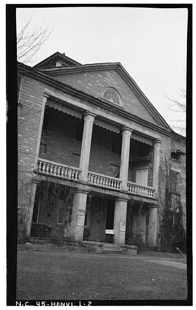 2.  Historic American Buildings Survey, Stewart Rogers, Photographer February 20, 1934 EAST PORTICO (ENTRANCE). - Judson College, Third Avenue & West Flemming Street, Hendersonville, Henderson County, NC