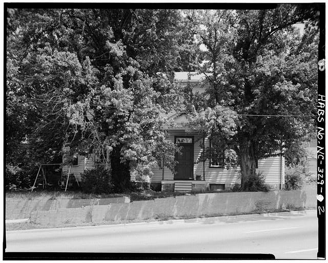 2.  FRONT VIEW, SOUTH ELEVATION - White-Holman House, 209 East Morgan Street, Raleigh, Wake County, NC