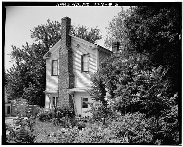 6.  SIDE AND REAR VIEW, EAST AND NORTH ELEVATIONS - White-Holman House, 209 East Morgan Street, Raleigh, Wake County, NC