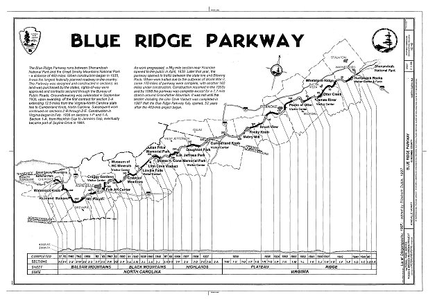 HAER NC,11-ASHV.V,2- (sheet 2 of 28) - Blue Ridge Parkway, Between Shenandoah National Park & Great Smoky Mountains, Asheville, Buncombe County, NC