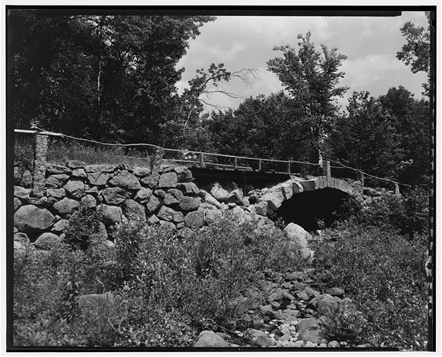 3.  Historical American Buildings Survey L. C. Durette, Photographer May 15, 1936 SECOND NEW HAMPSHIRE TURNPIKE BRIDGE AT FULLERS FALLS SECOND ARCH LOOKING DOW STREAM - Second New Hampshire Turnpike Bridge, Fullers Tannery, Hillsboro, Hillsborough County, NH