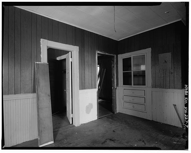 7.  Typical interior, second floor, front apartment, kitchen, looking northeast - 241 Cedar Street (Apartments), Manchester, Hillsborough County, NH